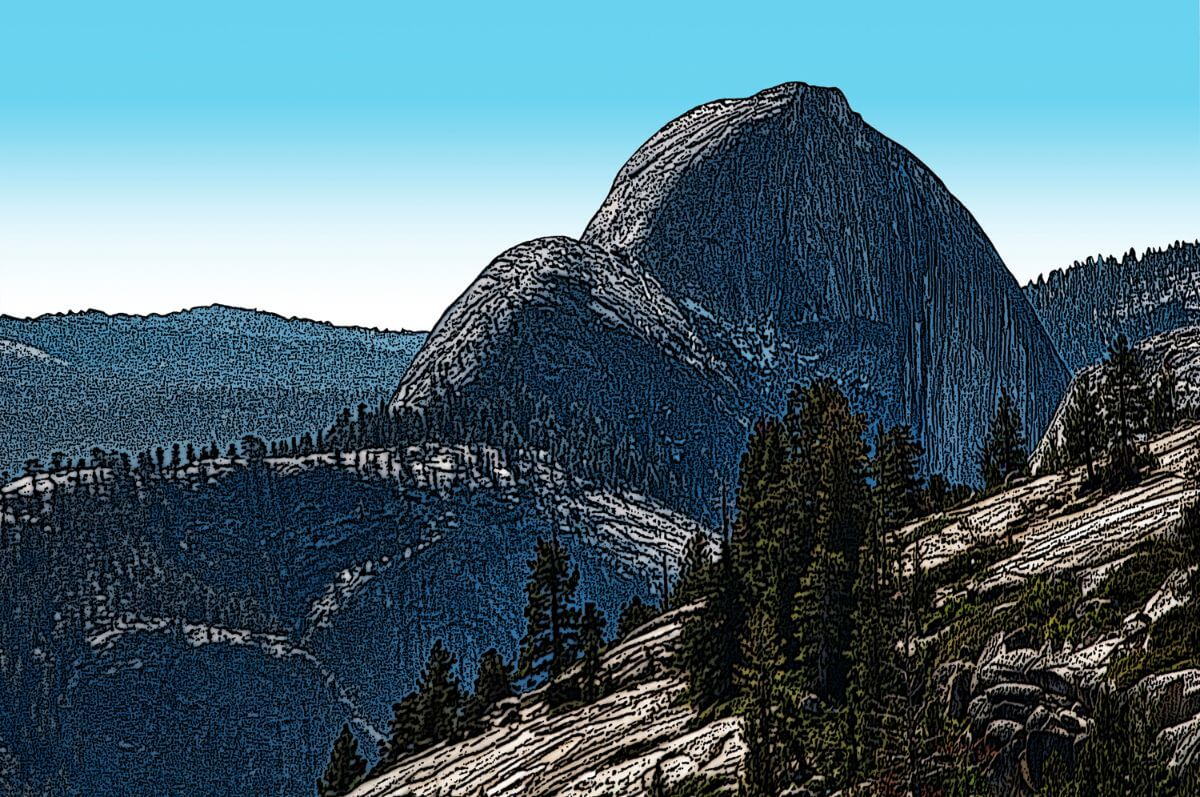 Half Dome from Ostrander Point